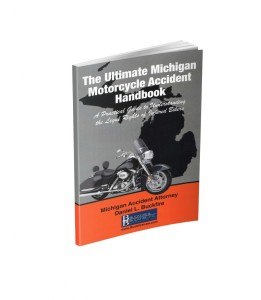 Ann Arbor motorcycle accident injury lawyer offers FREE Michigan motorcycle accident book to injured bikers and residents in Ann Arbor.